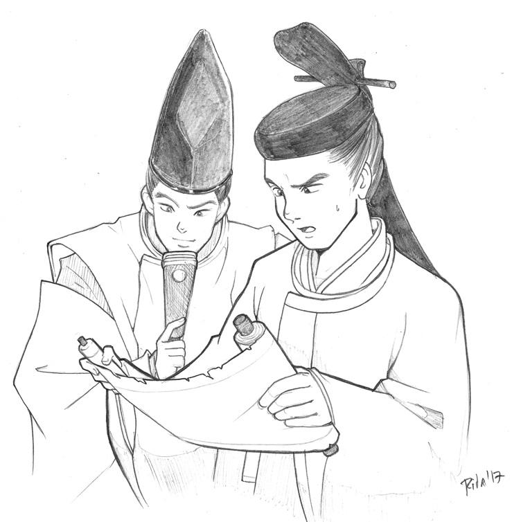 Hideaki y Mansai by Rita Muñoz